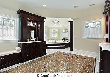 Master bath with separate tub area - Master bath in luxury...