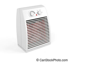 Electric heater blowing hot air