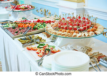 Catering food service - Catering service. Restaurant table...