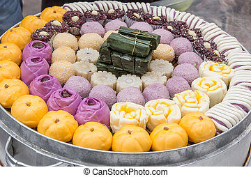 Glutinous rice sweets - Chinese traditional food at the...