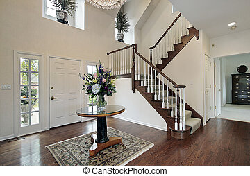 Foyer with bedroom view - Foyer in suburban home with...