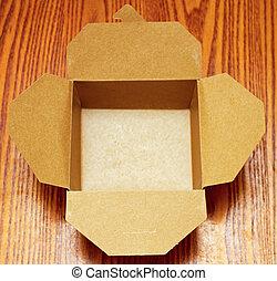 Take Away Box - Empty Open Take Away Carton Box