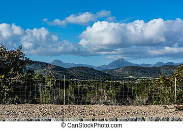 Beautiful scene on Majorca Island Spain in Serra de...