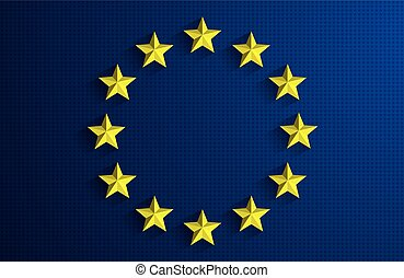 Flag of European Union - Creative Abstract Flag of European...