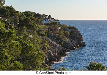Beautiful coastline Majorca Island Spain in Serra de...