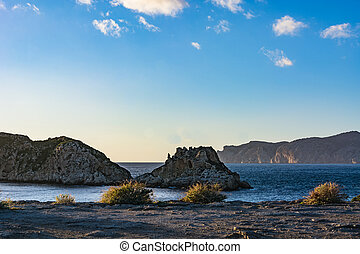 Beautiful Malgrats Islands at coastline Majorca Spain in...