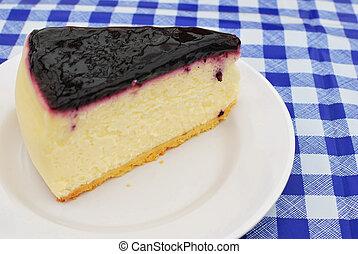 Sumptuous blueberry cheesecake
