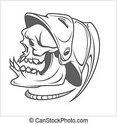 Firefighter - skull and helmet