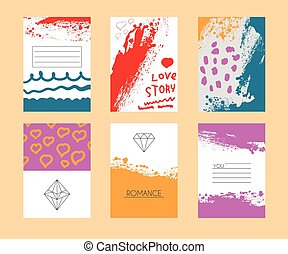 Vector illustration of a set invitations