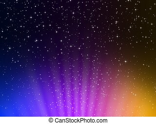 background stars - 3d rendered illustration of stars on a...
