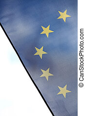 European Union flag - Color detail of the European Union...