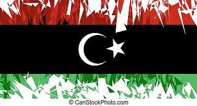 Flag of Libya - Flag of Libya in grunge style Vector...
