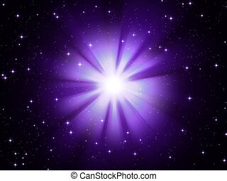 pink star - 3d rendered illustration of a glowing star on...