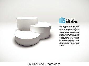 Infographic vector 3D pedestal - Infographic vector white 3D...