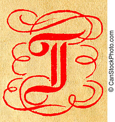 The Letter T - Initials letter T