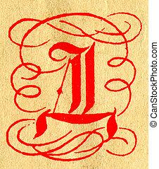 The Letter D - Initials letter D
