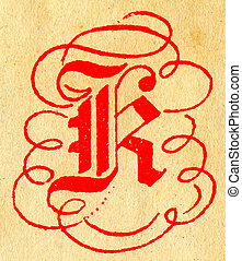 The Letter R. - Initials letter R.