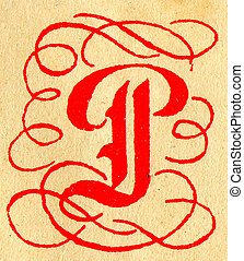 The Letter P - Initials letter P