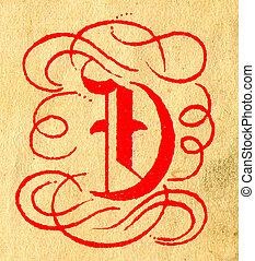 The Letter D. - Initials letter D.