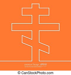 Stock Vector Linear icon cross. Flat design.