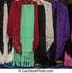 colorful scarfs - Colorful scarfs at san telmo market buenos...