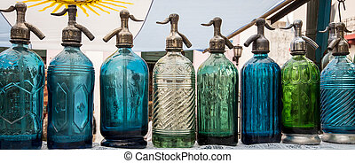 colored bottles buenos aires - Assortment of colorful...