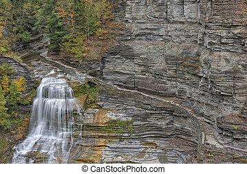 Lucifer Falls At The Robert H Treman State Park In New York
