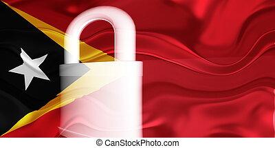 Flag of Timor-Leste wavy security - Flag of Timor-Leste,...