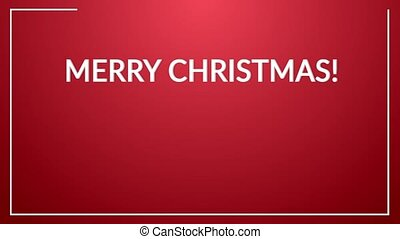 Christmas flat card - Colorful christmas card made by flat...