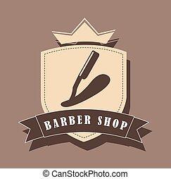 barber shop design - barber shop design, vector illustration...