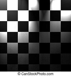 plata, tablero de ajedrez