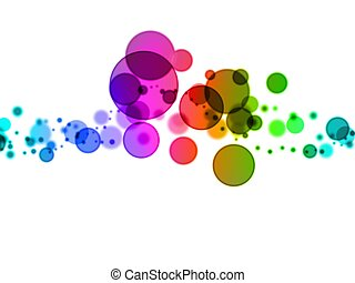 blurry dots - 3d rendered ilustration of colorful...