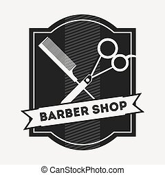 barber shop design - barber shop design, vector illustration...