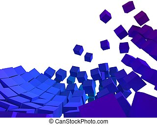 abstract cubes - 3d rendered illustration of an abstract...