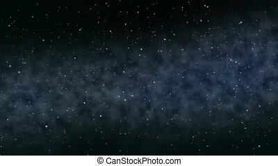Space background animation - Flying through the space...