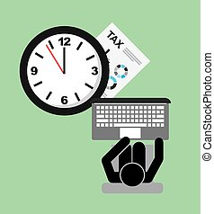 tax time design - tax time design, vector illustration eps10...