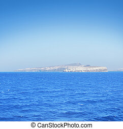 View of beautiful and peaceful Mediterranean sea with...