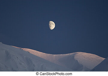 Moonrise over Turnagain - The moon rises over Turnagain...