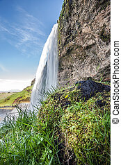 Seljalandsfoss - Picture shows the waterfall Seljalandsfoss...