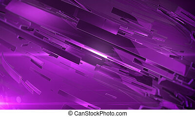 Abstract 3D background with lens flare. Purple colors. v. 2