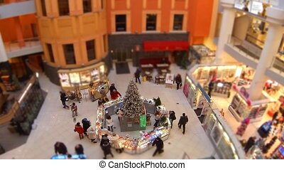 Christmas shopping time lapse zoom in