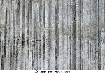 Concrete wall with traces from rubbed finish processing -...