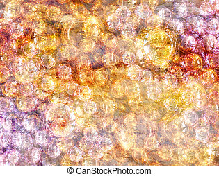 Abstract transparent balls - Abstract watercolor a...