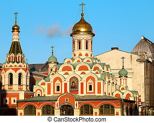 Kazan Cathedral on Red Square - Beautiful Kazan Cathedral on...