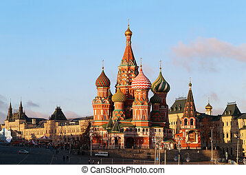 Beautiful St Basils Cathedral in Moscow on red square