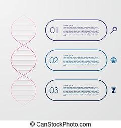 Vector illustration of a DNA