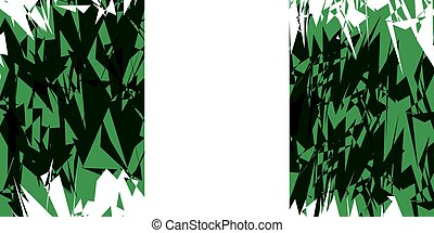 Flag of Nigeria - Flag of Nigeria in grunge style Vector...