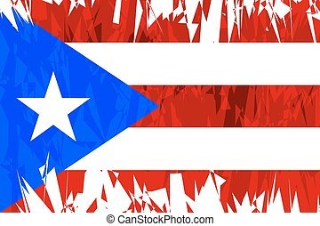 Flag of Puerto Rico - Flag of Puerto Rico in grunge style...