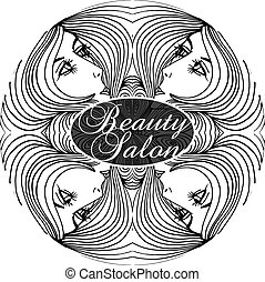 Beauty Salon Cover with Abstract beautiful woman face...