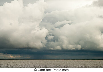 Ominous storm clouds - Cloudscape of ominous storm and rain...